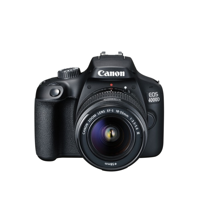 Canon EOS 4000D black EF s 18-55 mm DC III