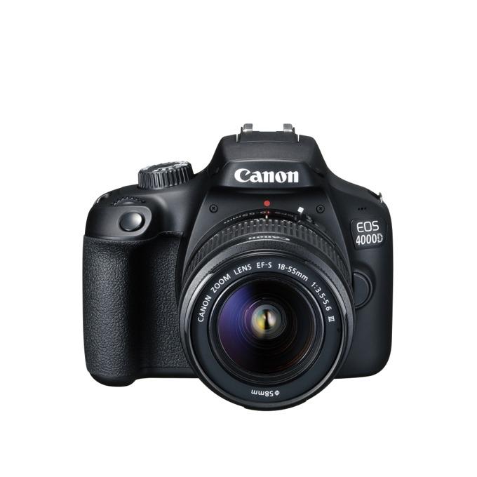 Canon EOS 4000D black EF s 18-55 mm DC III