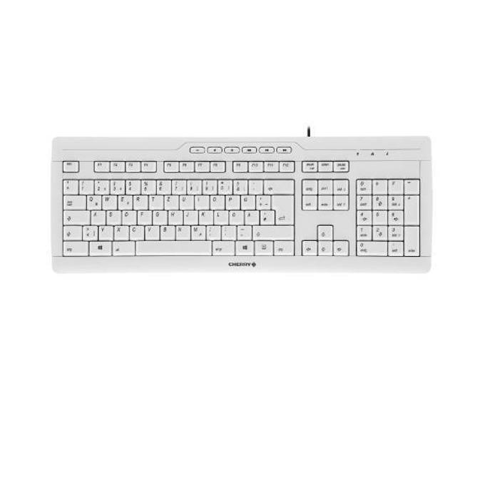 Клавиатура Cherry Stream 3.0, нископрофилни бутони, сива, USB, без кирилизаия image