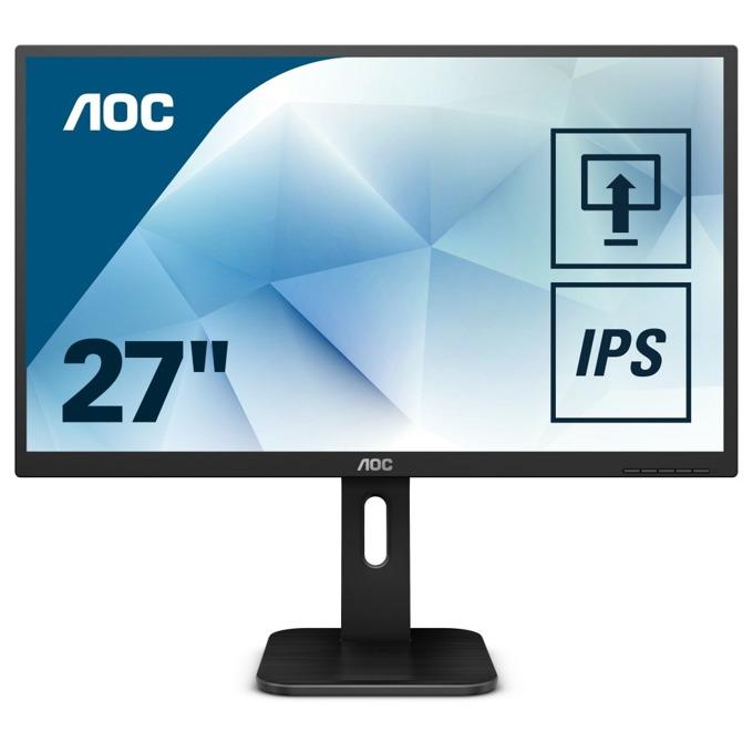 """Монитор AOC 27P1, 27""""(68.58 cm) IPS панел, Full HD, 5ms, 50M:1, 250 cd/m2, HDMI, VGA, DVI, DisplayPort image"""