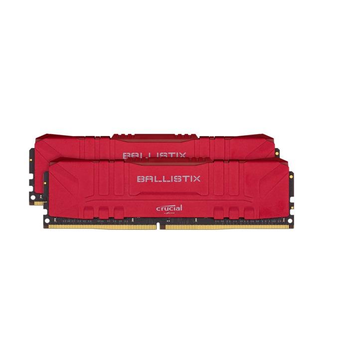 Памет 32GB (2x16GB) DDR4 3000 MHz, Crucial Ballistix (Red) BL2K16G30C15U4R, 1.35V image