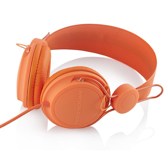 Слушалки Modecom MC-400 FRUITY, микрофон, оранжеви image