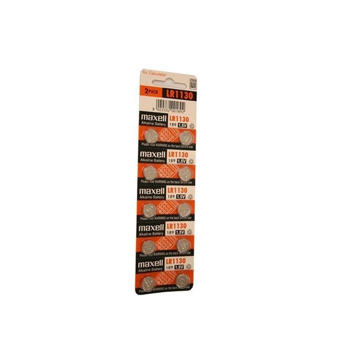 Батерии алкални Maxell LR1130, 1.5V, 2 бр.