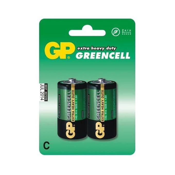 Батерии цинкови GP Greencell R14(C), 1.5V, 2 бр.  image