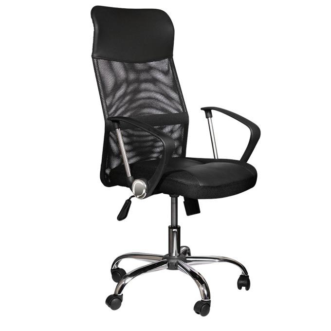 Офис стол Carmen 6083, еко кожа, регулируем люлеещ механизъм, черен image
