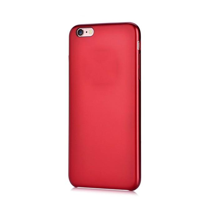 Калъф за Apple iPhone 6/6S, страничен протектор с гръб, поликарбонат, Devia CEO2, червен image