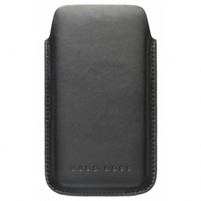 Калъф за iPhone 4/4S, джоб, кожен, HUGO BOSS Berlin, черен image