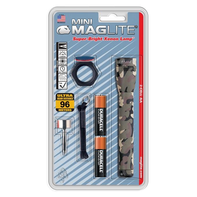 Фенер Mini MAGLITE M2A02CU, 2 батерии AA, 14 lm, водоустойчивост, камуфлаж image