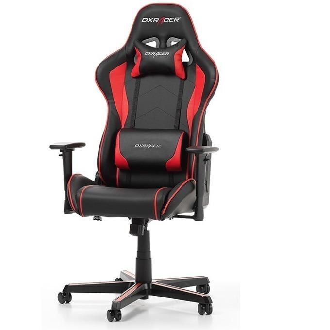 Геймърски стол DXRacer Formula OH/FH08/NR, черен/червен image
