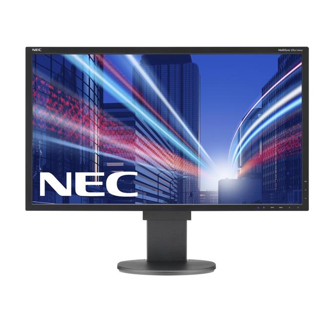 """Монитор 27"""" (68.58 cm) NEC MultiSync EA273WMi, IPS панел, FULL HD LED, 250cd/m2, 25000:1, HDMI, DVI, DisplayPort, USB, 3г. image"""