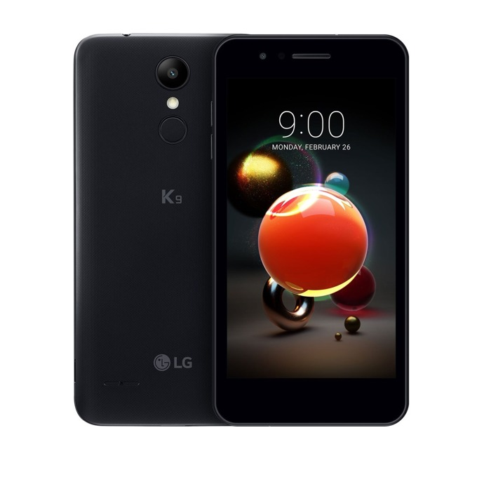 "LG K9 (черен), поддържа 2 sim карти, 5"" (12.70 cm) HD Ready дисплей, четириядрен Qualcomm Snapdragon 210 MSM8909 1.1 GHz, 2GB RAM, 16GB Flash памет(+microSD слот), 8 & 5 Mpix camera, Android 7.1.2, 148 g. image"