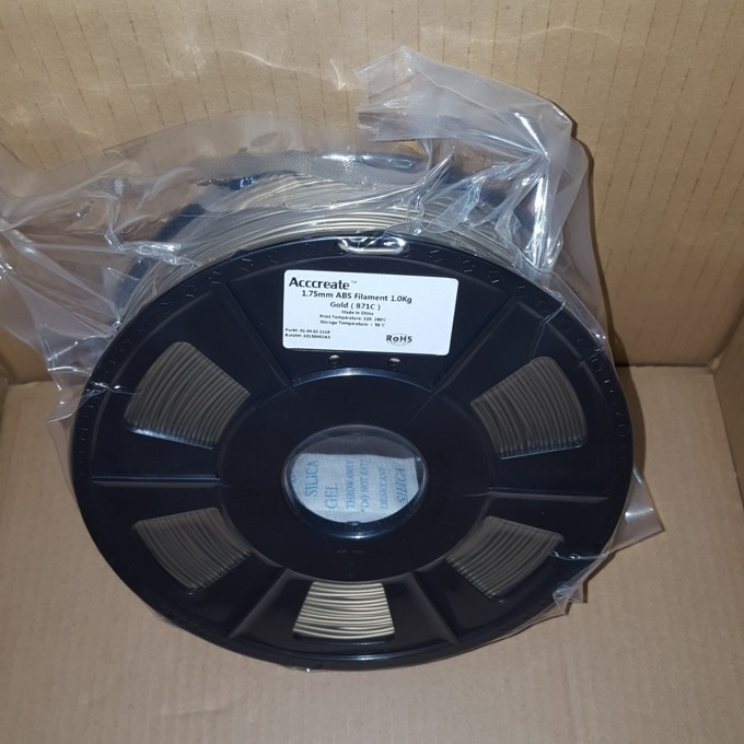 Консуматив за 3D принтер Acccreate, ABS filament, 1.75mm, златист, 1kg image