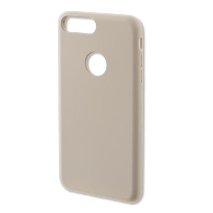 Калъф iPhone 7,8 Plus, страничен протектор с гръб, силиконов, 4smarts Cupertino Silicone Case, кремав image
