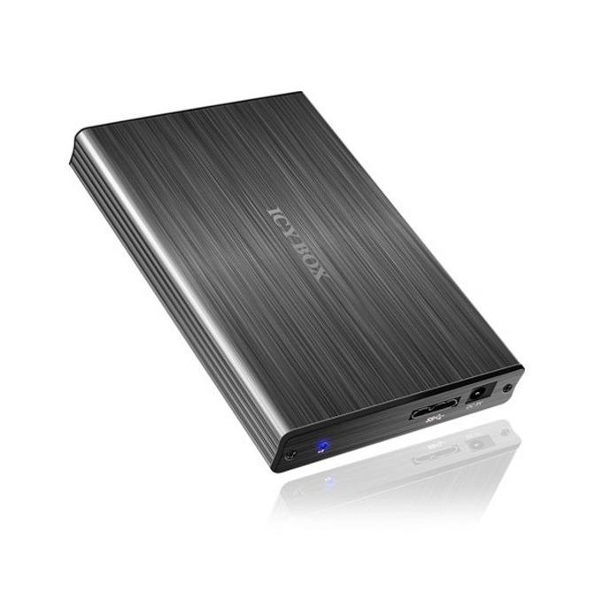 """Кутия 2.5""""(6.35 cm), Raidsonic IB-231StU3-G, за 2.5"""" SATA HDD, USB 3.0, алуминиева, черна image"""