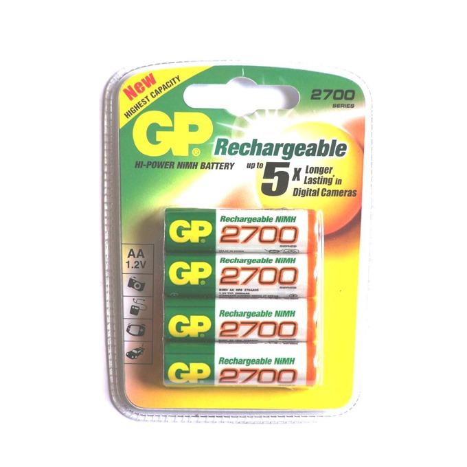 Акумулаторна батерия GP NiMH R6/AA, 1.2V, 2700 mAh, 4 бр. GP270AAHC image