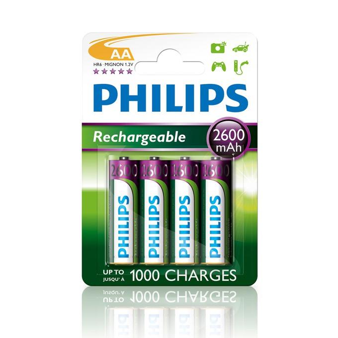 Батерии 4x Philips Rechargeable AA, 2600mAh, 1.2V image