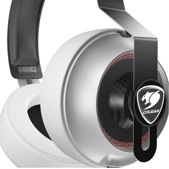 Слушалки Cougar Phontum Essential, гейминг, микрофон, 1.9m кабел, бели image