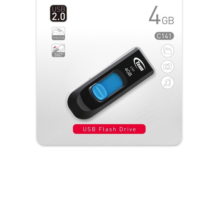 4GB USB Flash Drive, Team Group C171, USB 2.0, синя image