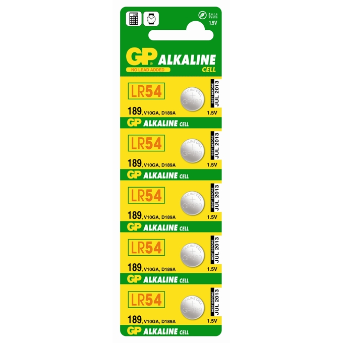 Батерии алкални GP LR54, 1.5V, 10 бр. в опаковка, цена за 1 бр. image