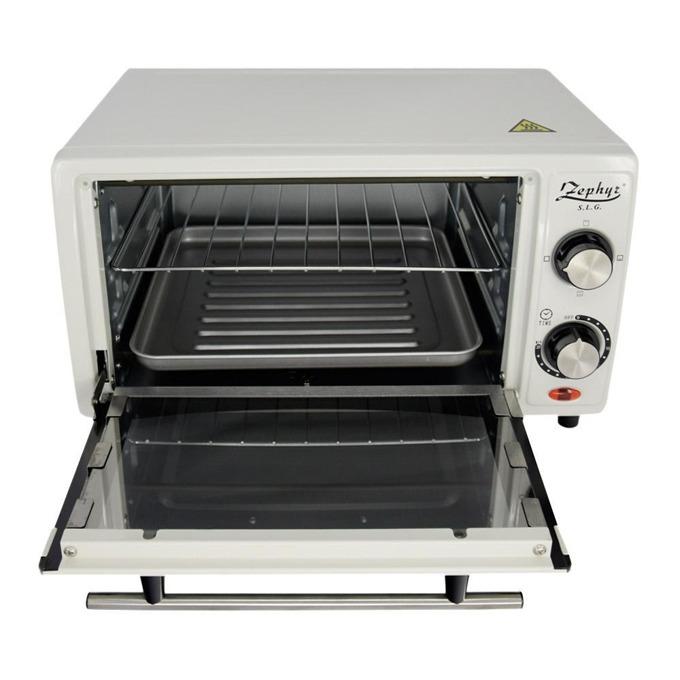 Малка готварска фурна ZEPHYR ZP 1441 R, 12 л, таймер, тавичка, 1200W, бяла image