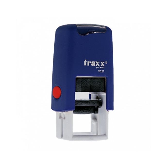 Автоматичен печат Traxx 9021 син квадратен