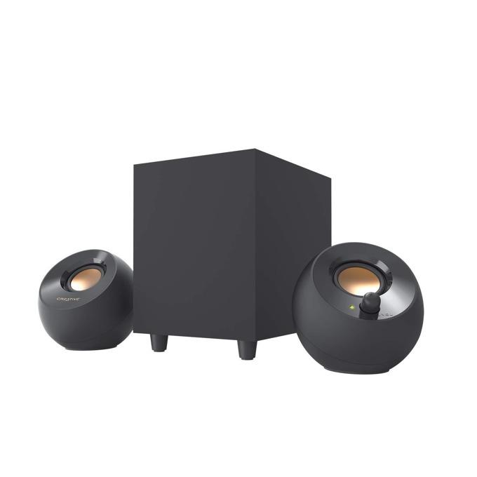 Тонколони Creative PEBBLE Plus 2.1, 8W RMS, 3.5mm jack, USB, черни image