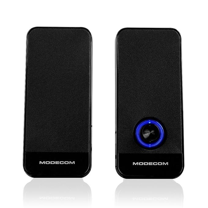 Тонколона Modecom MC-XS6 USB Black, 8W( 2x 4W), USB, черен image