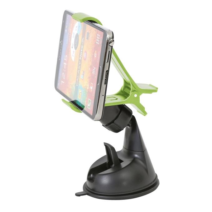 "Стойка за кола Omega Avocado, универсална, за смартфони до 6""(15.24cm), черен/зелен image"