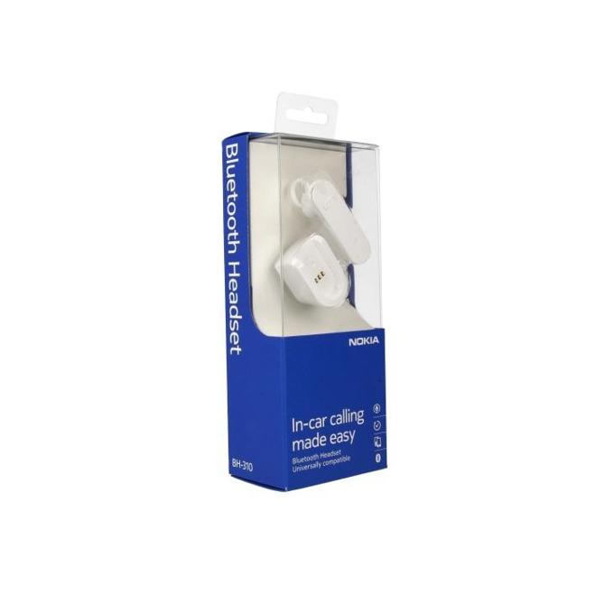 Слушалка Nokia BT BH-310, Bluetooth, бялa image