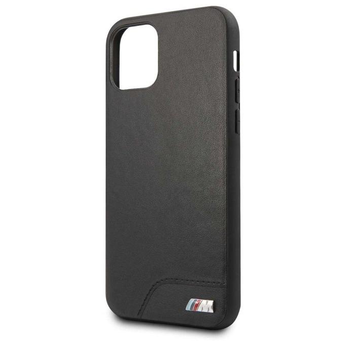 Калъф за Apple iPhone 11 Pro Max, естествена кожа, BMW M Collection Hard Case 3700740462041, черен image