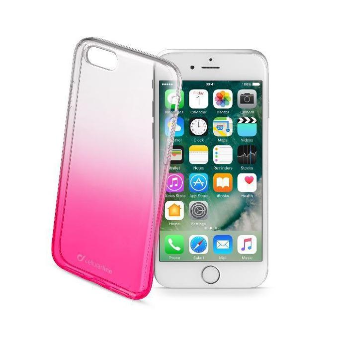 Протектор Cellular Line за iPhone 7, бял/розов image