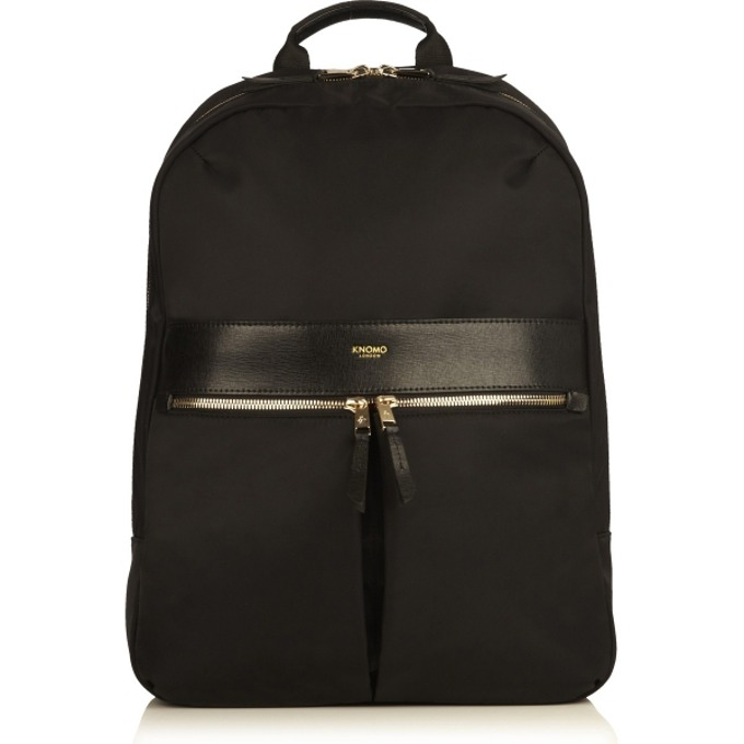 "Чанта за лаптоп Knomo Beauchamp Backpack 14, 14""(35,56 см), естествена кожа, черен image"