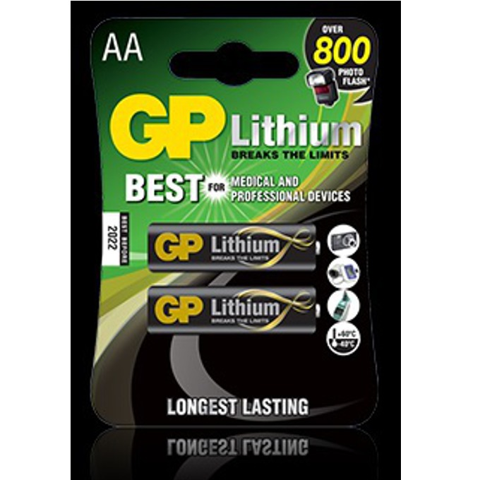 Батерия литиева GP AA, 1,5V, 2 бр.  image