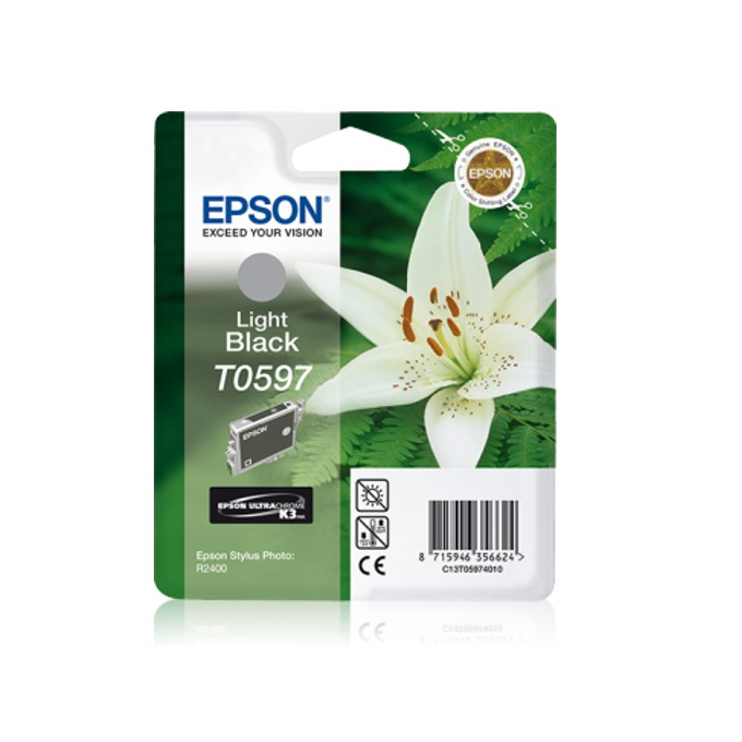 ГЛАВА ЗА EPSON Stylus Photo R2400/2400 - Light Black - T0597 - P№ C13T05974010 - 13ml image