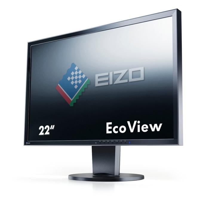 "Монитор EIZO EV2216WFS3-BK, 22""(55.88 см) TN панел, WSXGA+, 5ms, 250 cd/m2, DP, DVI, VGA image"