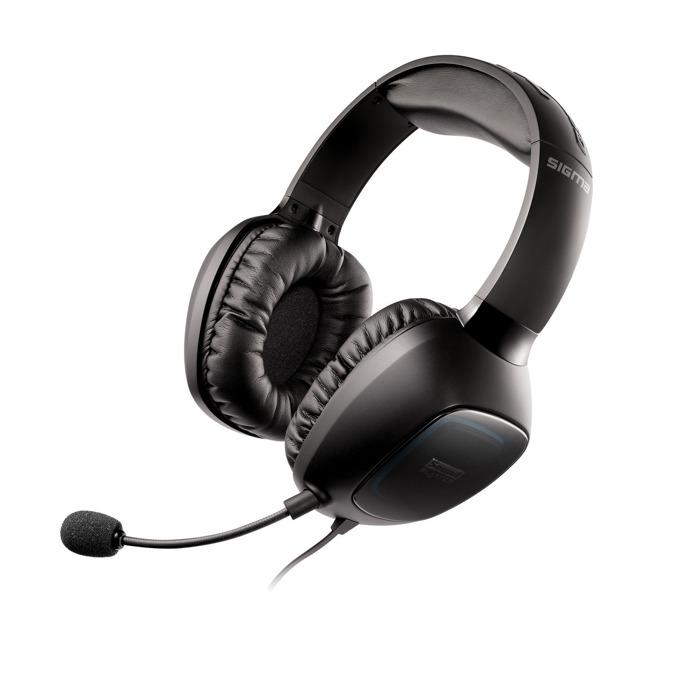 Creative SOUND BLASTER TACTIC 3D SIGMA, микрофон, гейминг, VoiceFX, 3.5мм жак, USB, черни image