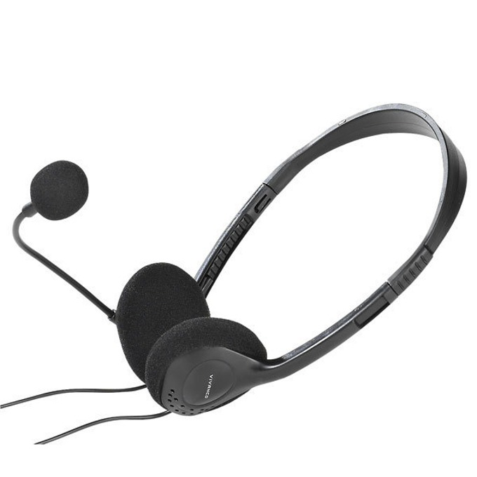 Слушалки Vivanco 36651 в комплек с адаптер, микрофон, 2m кабел, черни image