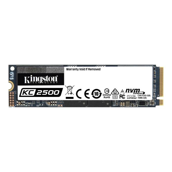 Памет SSD 250GB, Kingston KC2500, NVMe, M.2 (2280), скорост на четене 3500MB/s, скорост на запис 1200 MB/s image