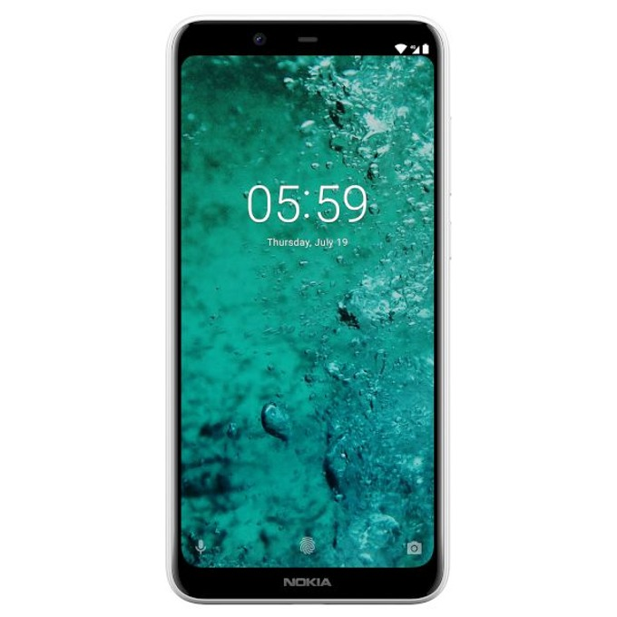 "Nokia 5.1 Plus (бял), поддържа 2 sim карти, 5.8"" (14.73 cm) HD+ дисплей, осемядрен MediaTek Helio P60 1.8GHz, 3GB RAM, 32GB Flash памет (+microSD слот), 13 MPix & 8 MPix камера, Android, 160 g image"