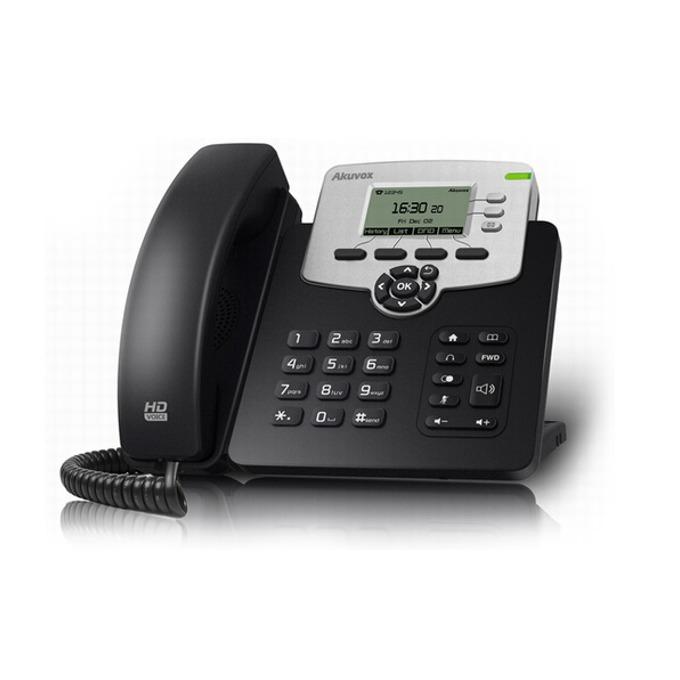 VoIP Телефон, Akuvox SP-R53P, 132*64-pixel екран, PoE, 3 линии image