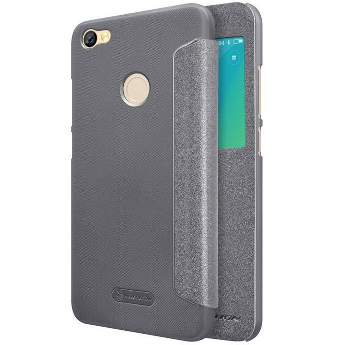 Калъф за Note 5A Prime, отваряем с прозорче/отвор, еко кожа, Nillkin, черен image