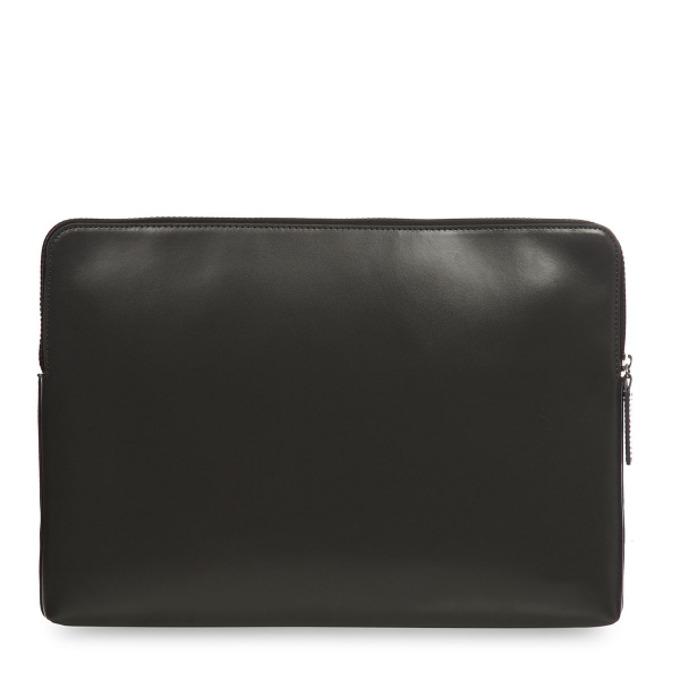 """Калъф за лаптоп Knomo Laptop Leather Zip Sleeve 15, 15""""(38,1 cm), кожен, черен image"""