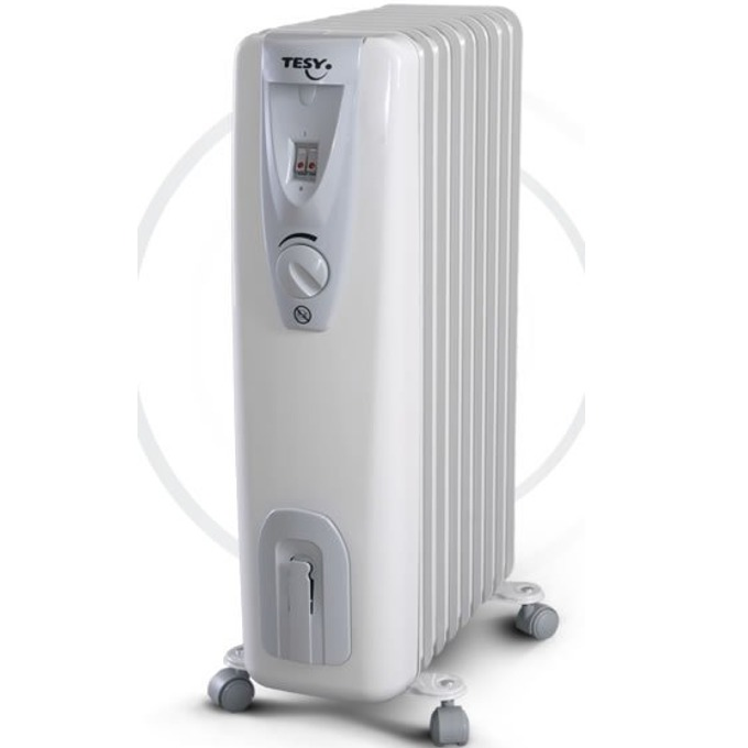 Радиатор Tesy CB2009E01R, 9 ребра, 3 степени на работа, термостат, 2000W, бял image