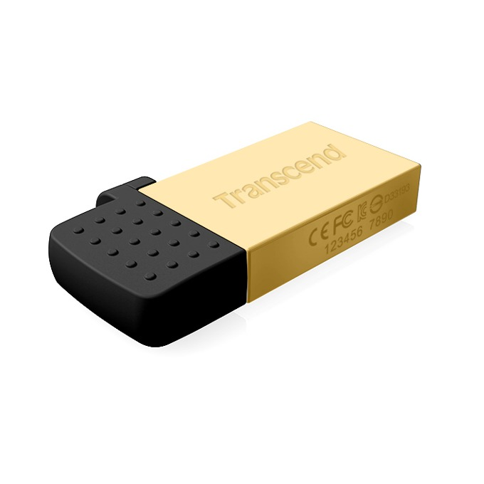 32GB USB Flash Drive, Transcend JetFlash 380G, USB2.0 / microB (OTG), златиста image