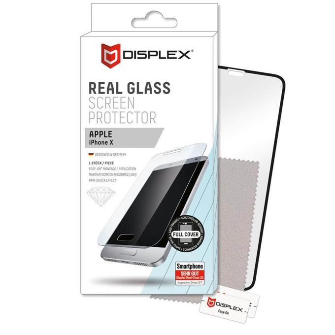 Протектор от закалено стъкло /Tempered Glass/ Displex Glass 10H Protector 3D, за Apple iPhone XS/X image