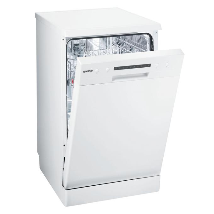 Съдомиялна Gorenje GS 52115 W с, клас A++, 9 комплекта, 6 програми, 5 температури, самопочистващ се филтър, аква стоп, QuickIntensive, бяла image