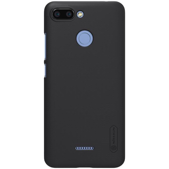 Калъф за Xiaomi Redmi 6, твърд гръб, силиконов, Nillkin, черен image