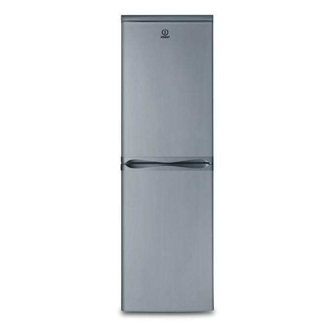 Хладилник с фризер Indesit CAA 55NX, клас А+, 234 л. общ обем, свободностоящ, 256 kWh/годишно, инокс image