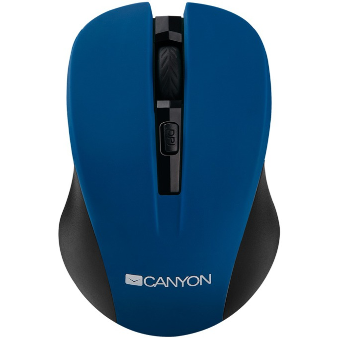 Мишка Canyon CNE-CMSW1, оптична (1200 dpi), безжична, USB, синя image