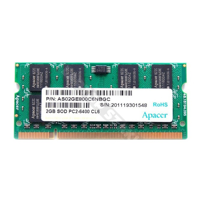 2GB DDR2 800MHz, SO-DIMM, Apacer image